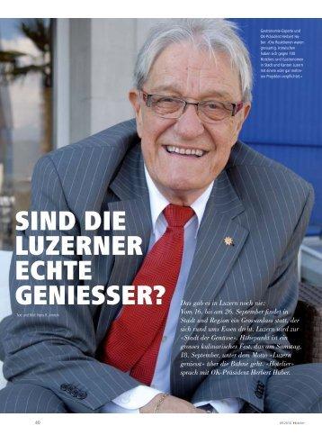 Sind die Luzerner echte GenieSSer? - hoteljournal.ch