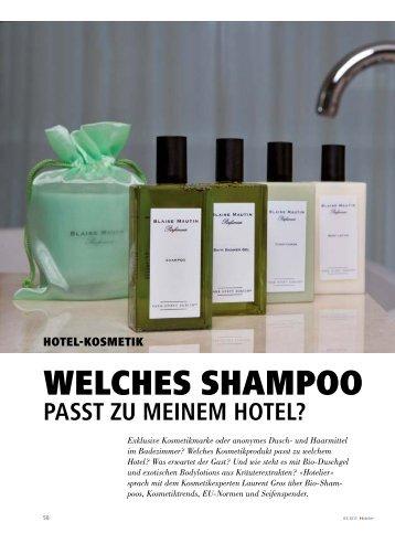 WelCHes sHAmPoo - hoteljournal.ch