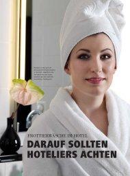 DARAUF SOLLTEN HOTELIERS ACHTEN - hoteljournal.ch