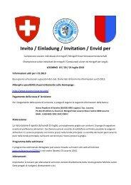 Invito / Einladung / Invitation / Envid per - Minigolf Club Locarno