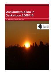 Auslandsstudium in Saskatoon 2009/10 – Ein Erfahrungsbericht von ...