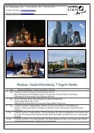 Moskau- Sankt- Petersburg 7 Tage - Olympia-Reisen-Sibir ...