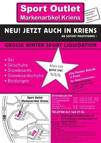 Markenartikel Kriens - Sport Outlet