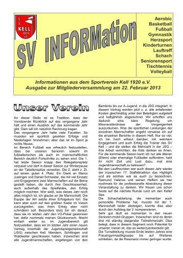 SVInform - SV Kell 1920 eV