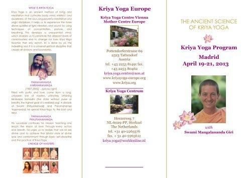 Madrid 19 Kriya Yoga