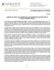 Télécharger le communiqué de presse (PDF 381 KB) - Iamgold