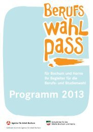 Das komplette Programmheft 2013 - Berufswahlpass für Bochum ...