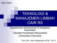 teknologi & manajemen limbah cair rs - Blog Staff UI - Universitas ...