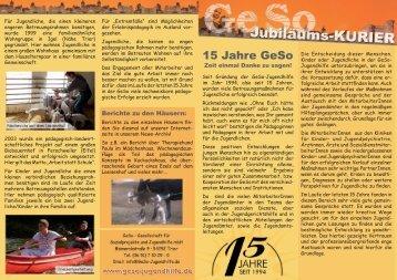 15 Jahre GeSo - GeSo Jugendhilfe