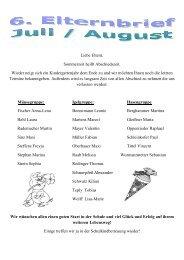 6. Elternbrief (Juli / August 2012) - St.Rupert Kindergarten Amerang
