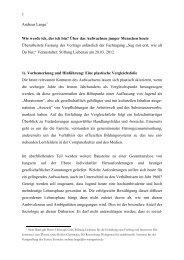 Vortrag Prof. Lange - Liebenauer Netzwerk Familie