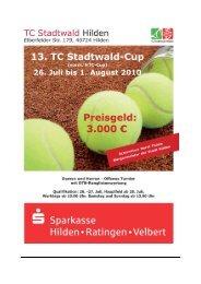 Ausschreibung V1 - TC Stadtwald Hilden