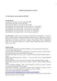 pubblicazioni degli allievi-1 - Master di II livello in Traduzione di testi ...