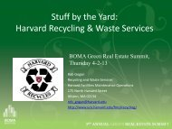 Harvard Recycling & Waste Services - Greater Boston Real Estate ...