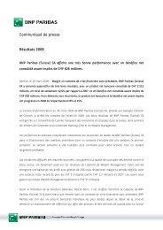 Communiqué de presse Résultats 2008 - BNP Paribas