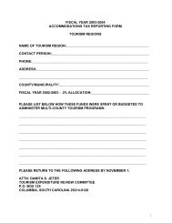 fiscal year 2003-2004 accommodations tax reporting form tourism ...