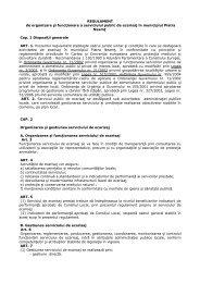 REGULAMENT de organizare şi funcţionare a serviciului public de ...