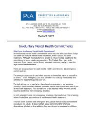 Involuntary Mental Health Commitments - Protection & Advocacy for ...