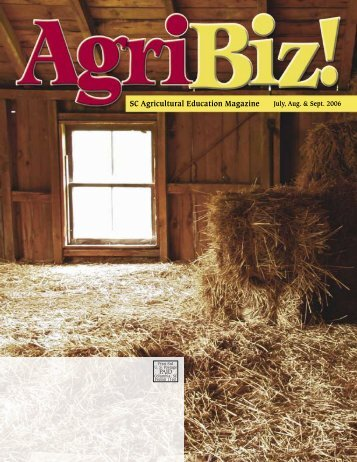 SC Agricultural Education Magazine - South Carolina Agricultural ...