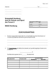 Formular - Stadtverband für Sport Homburg