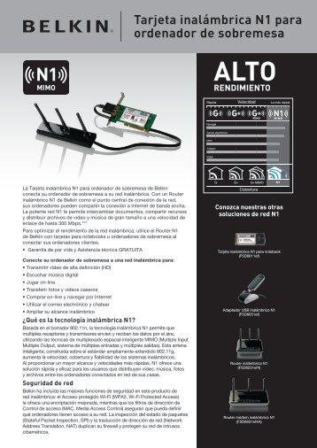 Tarjeta inalámbrica N1 para ordenador de sobremesa