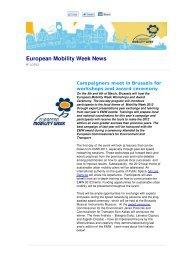 Newsletter #2 - European Mobility Week