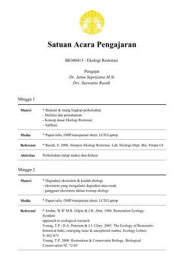 Satuan Acara Pengajaran Universitas Indonesia