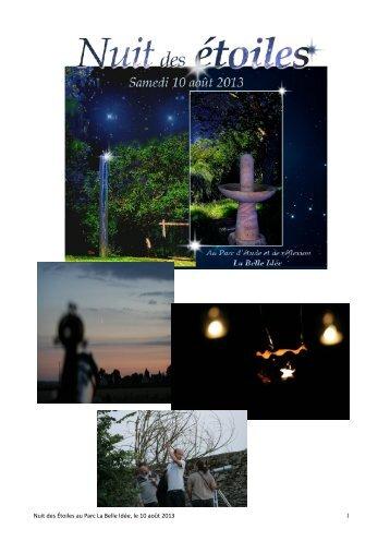 Nuit des Étoiles au Parc La Belle Idée, le 10 août 2013 1