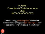 POEMS Prevention Of Early Menopause - IBCSG