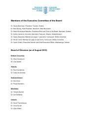 Members of the Executive Committee of the Board