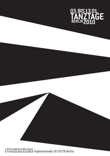 So 3.1. / Mo 4.1. 20.30 Festsaal Johanna - Tanztage Berlin