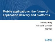 Mobile applications, the future of application delivery and platforms