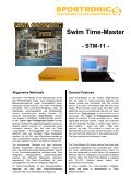 Swim- Time-Master PCT-Software - Sportronic - Page 5