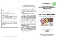 t a n t e  t i n t e INTRECCI DI CULTURE - Ufficio Scolastico ...