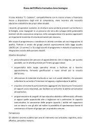 Sostegno - Liceo Artistico Statale Catalano