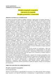 Scenografia - Liceo Artistico Statale Catalano