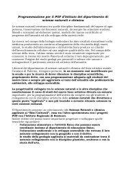 scienze - Liceo Artistico Statale Catalano
