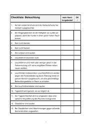 Checkliste Beleuchtung als PDF-Dokument - handelswissen.de