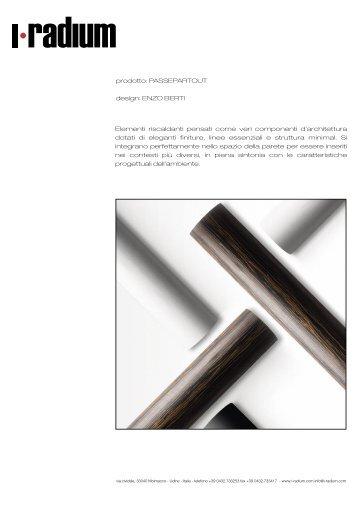 prodotto: PASSEPARTOUT design: ENZO BERTI Elementi ... - I-radium