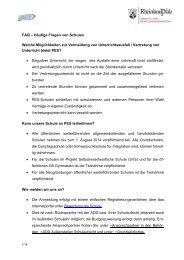 FAQ – Häufige Fragen von Schulen Welche Möglichkeiten zur ... - PES