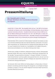 Pressemitteilung - Equens