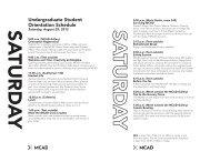 Undergraduate Student Orientation Schedule - Minneapolis College ...