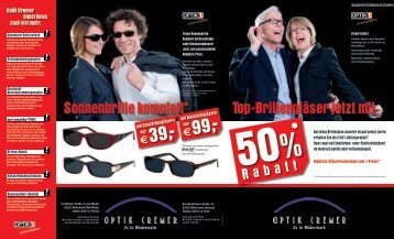 Prospekt - Optik Cremer