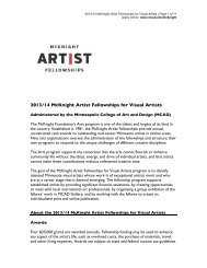 2013/14 McKnight Artist Fellowships for Visual Artists - Minneapolis ...