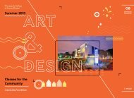 summer catalog - Minneapolis College of Art and Design