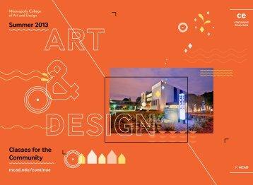summer catalog - Minneapolis College of Art and Design