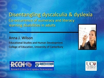 Dr Anna Wilson - College of Education - University of Canterbury