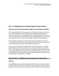 2011-12 McKnight Artist Fellowships for Visual Artists - Gallery ...