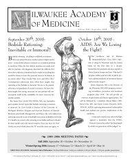 September 2005 Newsletter - Milwaukee Academy of Medicine