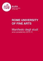 Manifesto degli studi 2013/2014 - RUFA